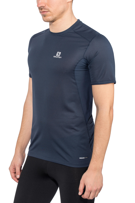 d02f221724d6 Salomon Trail Runner Running T-shirt Men blue at Bikester.co.uk
